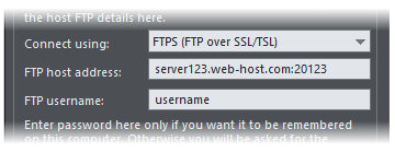How do I publish via SFTP or FTPS? - Xara Desktop Support